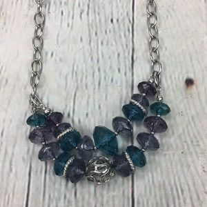 Napier multi double layer beaded necklace